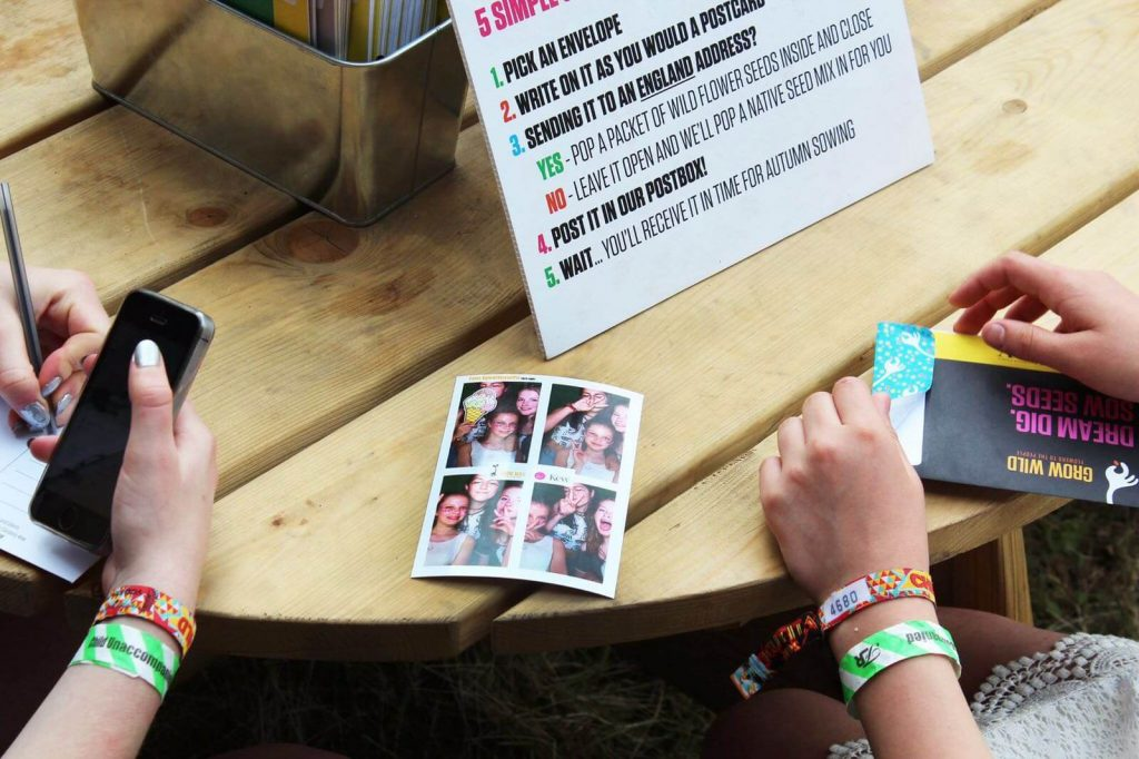 Kew Gardens Grow Wild personalised photo at Latitude Festival